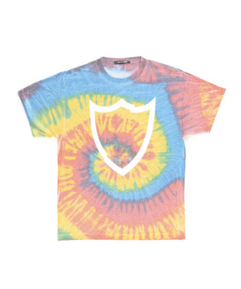 T-SHIRT HTC TIE DYE MULTICOLOR blue express family maglia scudo