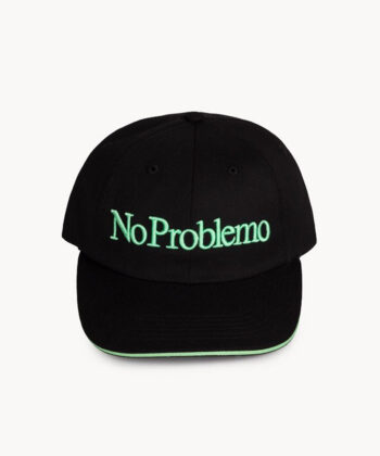 CAPPELLINO BASEBALL NO PROBLEMO ARIES NERO berretto blue express family streetwear hip hop