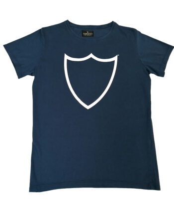 T-SHIRT HTC BASIC SHIELD M BLUE WHITE blue express family Verona maglia scudo