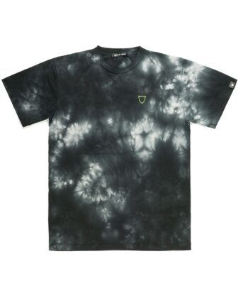 T-SHIRT HTC TIE DYE NERO blue express family logo scudo