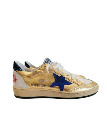SNEAKERS GGDB BALL STAR ORO golden goose deluxe brand blue express