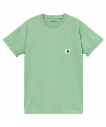 T-SHIRT W CARHARTT POCKET VERDE blue express family Verona wip