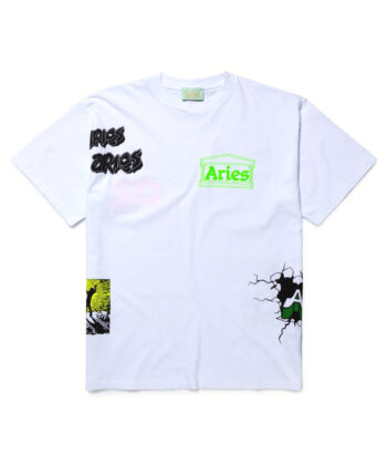 T-SHIRT ARIES MULTI BIANCA blue express family hip hop