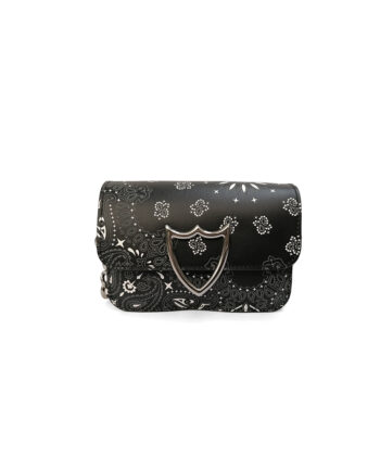 MINI CLUTCH HTC BANDANA NERA blue express family borsa scudo