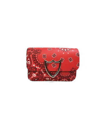MINI CLUTCH HTC BANDANA ROSSA borsa scudo blue express family