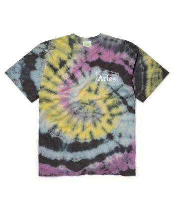 T-SHIRT ARIES TEMPLE TIE-DYE blue express family hip hop streetwear