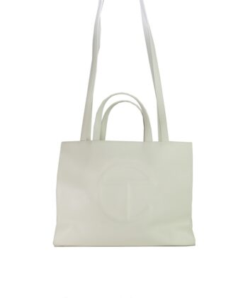 MEDIUM SHOPPING BAG TELFAR WHITE blue express family Oprah Winfrey bag borsa