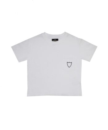 T-SHIRT HTC CROPPED WHITE