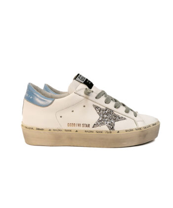 SNEAKERS GGDB HI-STAR BIANCHE blue express family golden goose