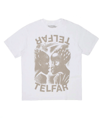 oprah winfrey telfar T-SHIRT THE BOMB TELFAR BIANCA blue express family