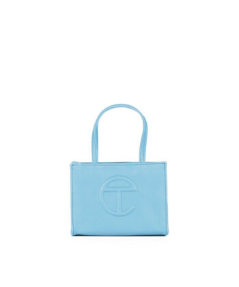 SMALL SHOPPING BAG TELFAR POOL BLUE blue express family Oprah Winfrey bag