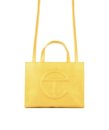 MEDIUM SHOPPING BAG TELFAR YELLOW Oprah Winfrey bag blue express family