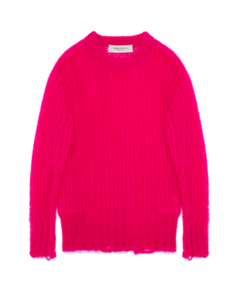 MAGLIONE MOHAIR GOLDEN GOOSE FUCSIA blue express family