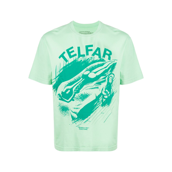 oprah winfrey telfar T-SHIRT THE WORLD TELFAR VERDE blue express family