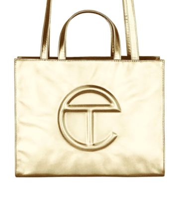 MEDIUM SHOPPING BAG TELFAR ORO blue express family