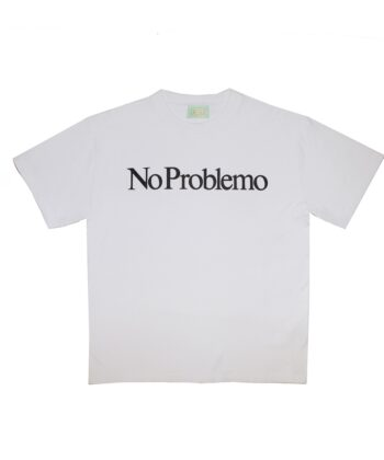 Aries No Problemo T shirt white blue express family