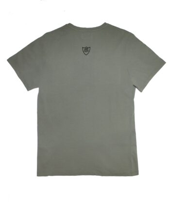 V NECK MID GREY T-SHIRT